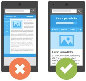 تفاوت موبایل فرندلی بودن و نبودن صفحات